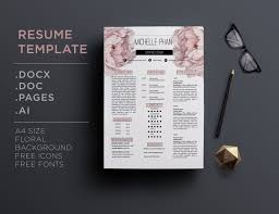 resume layout templates floral cv template resume template by chic templates floral cv template resume template by chic templates thehungryjpeg com