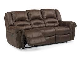 Cheap Sofas In Bristol Flexsteel Bristol Power Reclining Sofa With Nailhead Studs John