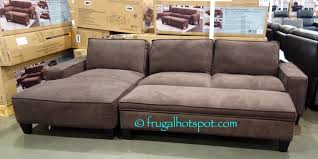 Costco Sectional Sofa by Costco Sale Chaise Sofa With Storage Ottoman 649 99 Frugal Hotspot