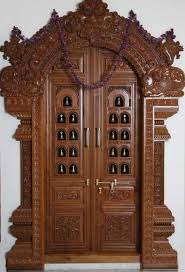 latest pooja room door frame and door design gallery wood design