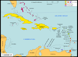 Caribbean Sea Map Americas Caribbean Map Stampworldhistory