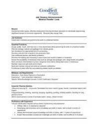Sample Resume For Forklift Driver by Free Sample Resume For Material Handler Machine Operator Resume
