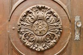 woodcarving the ornament on the door stock photo s kohl