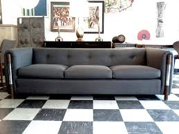 Gray Sofa Living Room Living Room Vintage Living Room With Black White Floor And