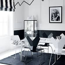 White Modern Dining Room Sets Dining Room Modern Dining Sets In Black And White Theme With Side