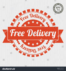 Orange Color by Free Delivery Vintage Stamp Orange Color Stock Vector 159883727