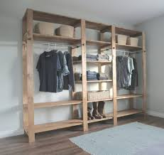 Wood Closet Shelving by Interiors Cozy Building A Closet Ideas How To Build A Installing