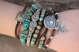stacking bracelets as seen in vogue magazine turquoise boho bracelet stack