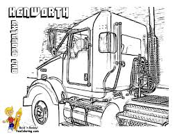 19 big rig truck coloring pages peterbilt semi drawings www
