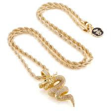 dragon necklace pendant images The 14k gold double dragon necklace pendants king ice kingice jpg