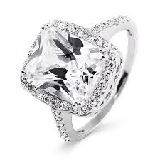 zircon wedding rings images Celebrity inspired diamond cz sterling silver engagement ring jpg