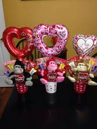 balloon and candy bouquets small valentines bouquets candy bouquets