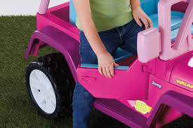 pink jeep bed power wheels barbie jammin u0027 jeep wrangler 12 volt battery powered
