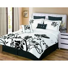 bedroom fabulous black floral pattern cover beds sheet and white