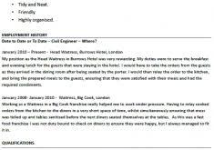 Resume Template For Waitress Outstanding Waitress Resume Example 6 Waiter Cv Resume Ideas