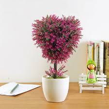 the trees potted green plants artificial flowers decorative pots