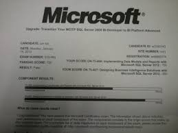 ms sql server 2012 exam 70 460 business intelligence developer