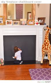 fireplace cover up diy fireplace chalkboard cover the wise baby