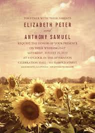 Wedding Invitations Rustic Vintage Sunflower Field Wedding Invitations Rustic Barn Weddings