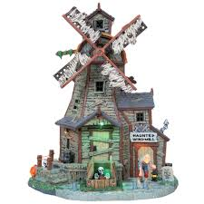 lemax halloween houses halloween village building haunted windmill with 4 5v adaptor u2014kmart
