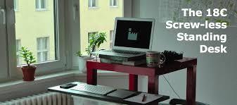 Stand Up Desk Conversion Ikea Amazing Diy Standing Desk Conversion 17 Best Images About Stand Up
