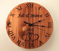 wedding clocks gifts personalized wedding clock custom anniversary by bunbunwoodworking