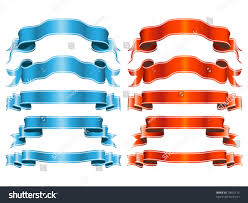 decorative ribbons decorative ribbons stock vector 73605115