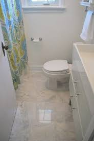 Carrara Marble Floor Tile Choosing Faux Carrara Marble Floor Tile For The Bathroom The