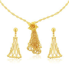 yellow gold necklace sets images Queens diamond and jewelry 22 k yellow gold flower design necklace jpg