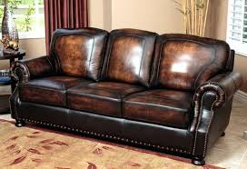 Aspen Leather Sofa Aspen Leather Sofa With Nailhead Trim Wojcicki Me