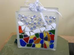 glass block christmas decoration thriftyfun