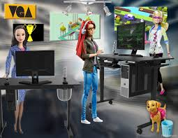 game developer barbie u0026 her standing desk barbie is hitting it