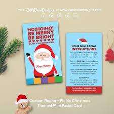 custom rodan fields christmas themed mini card business