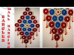 how to make wall hanging from bangles and cloth the handmade