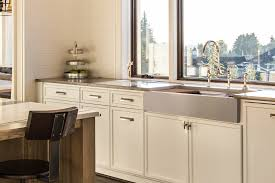 metal kitchen sink and cabinet combo auric sinks 33 retro fit farmhouse flat front apron ledge