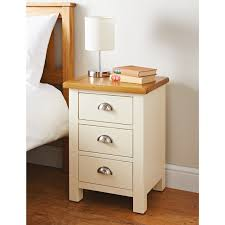 bedroom furniture bedside cabinets newsham 3 drawer bedside table bedroom furniture b m
