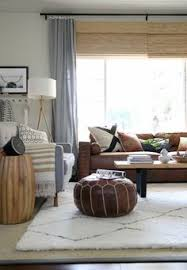 House Tweaking Living Room Curtains Brown Leather Couch Decor Looking At Ways To Lighten Up A Living