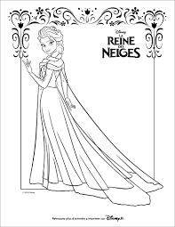 coloriage la reine des neiges fête olivia 5 ans