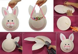 easter bunny baskets diy easter bunny basket from paper plate