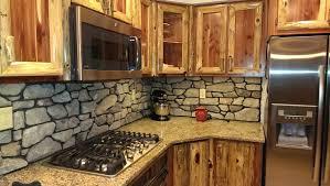 stone backsplash kitchen cute cultured stone backsplash rustic kitchen 6988 home design