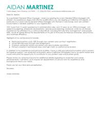 manager resume cover letter samples