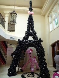 torre ifel con globos balloon columns columnas globos