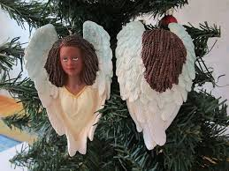 christmas ornament african cherub angel tree ornament home decor
