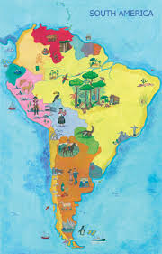 map of cities in south america map of south america mantra lingua us