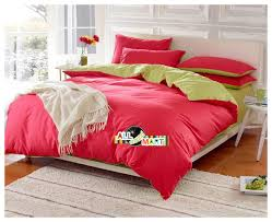 free shipping red u0026 apple green 4pcs cotton colorful bedding set
