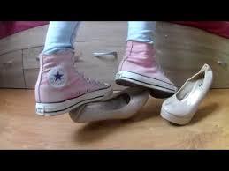 Converse High Heels Pink High Converse Trample High Heels Youtube