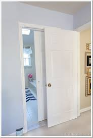 Interior Bathroom Door Bathroom Gets A Makeover Using Rolling Door Hardware