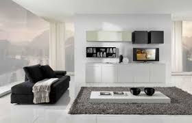Living Room Furniture For Tv Black And White Living Room Furniture With Functional Tv Stand