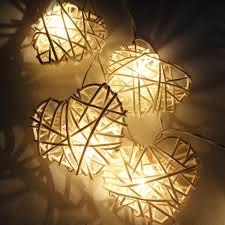 handmade lighting etsy white heart rattan lover fairy lights