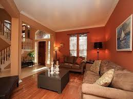 livingroom wall ideas orange wall color with velvet beige sofa set for small living